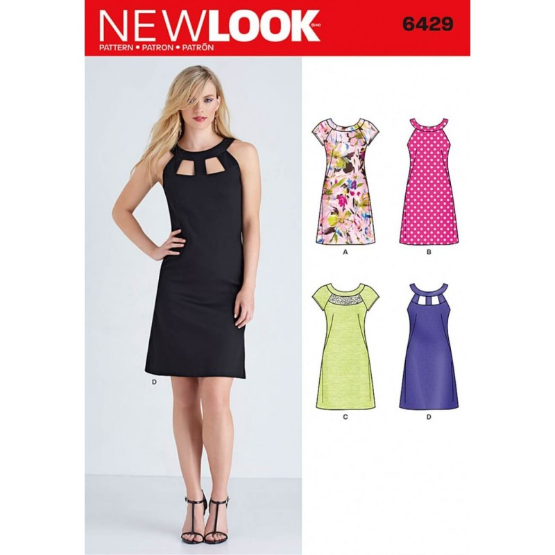 New Look Misses  Dresses With Neckline   Sleeve Variations Sewing Pattern  6429 1750f5b7f