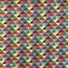 New World Mini Geometric Pyramids Tapestry 80% Cotton 20% Polyester Fabric 140cm