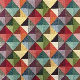 New World Geometric Pyramids Tapestry 80% Cotton 20% Polyester Fabric 140cm
