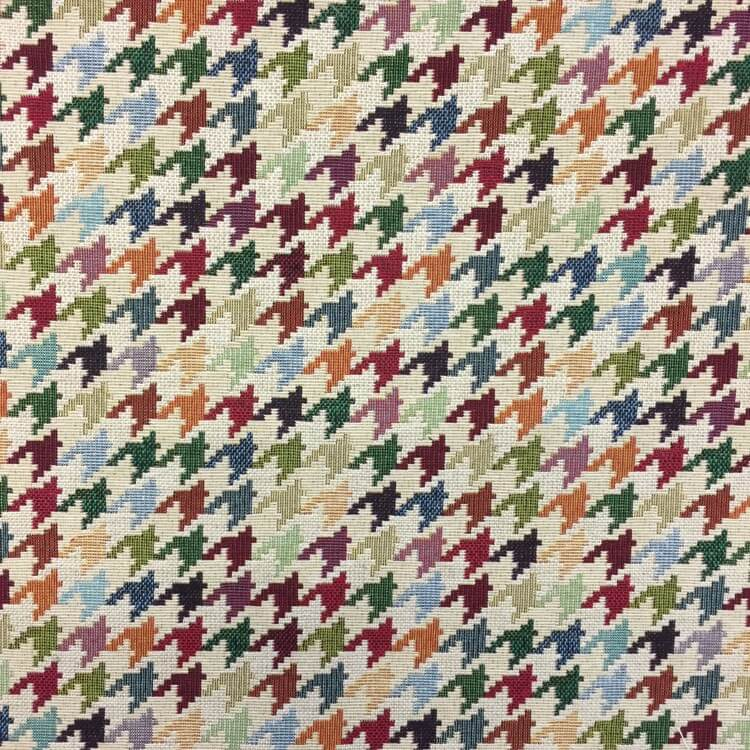 New World Dogtooth Print Tapestry 80% Cotton 20% Polyester Fabric 140cm
