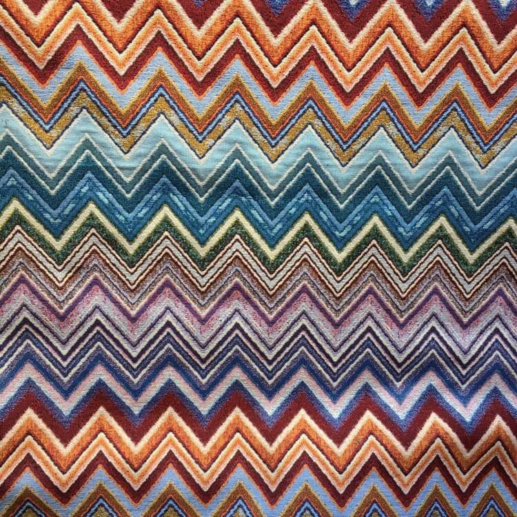 New World Abstract Zig Zag Tapestry 80% Cotton 20% Polyester Fabric 140cm