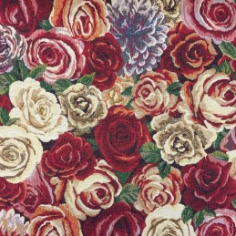 New World Amsterdam Rose Floral Flowers 80% Cotton 20% Polyester Fabric 140cm