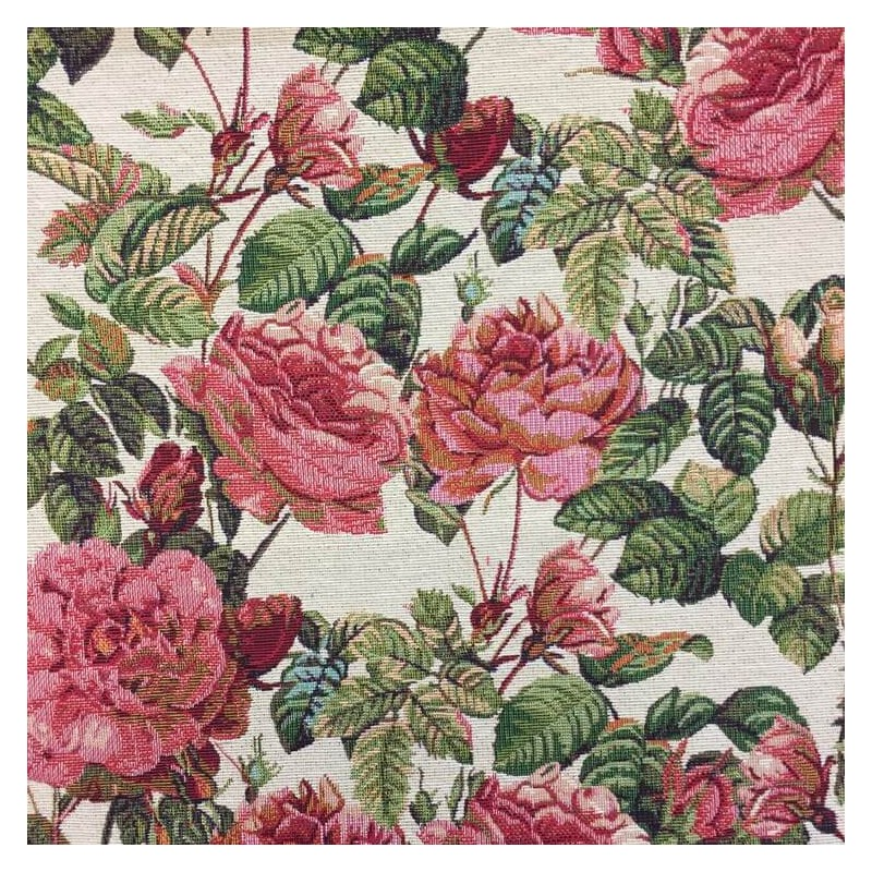 New World Full Blooming Rose Bush Floral 80/% Cotton 20/% Polyester Fabric 140cm