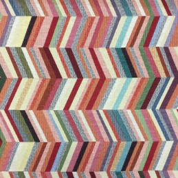 New World Zig Zag Staircase Illusion 80% Cotton 20% Polyester Fabric 140cm