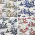 Toile Victorian Days Cotton Linen Look Upholstery Panama Fabric