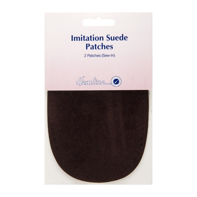 Hemline Black 10 x 15cm Sew-in Imitation Suede Patches