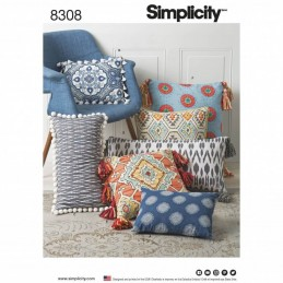 Home Decor Various Throw Pillows and Cushions Simplicity Sewing Pattern 8308