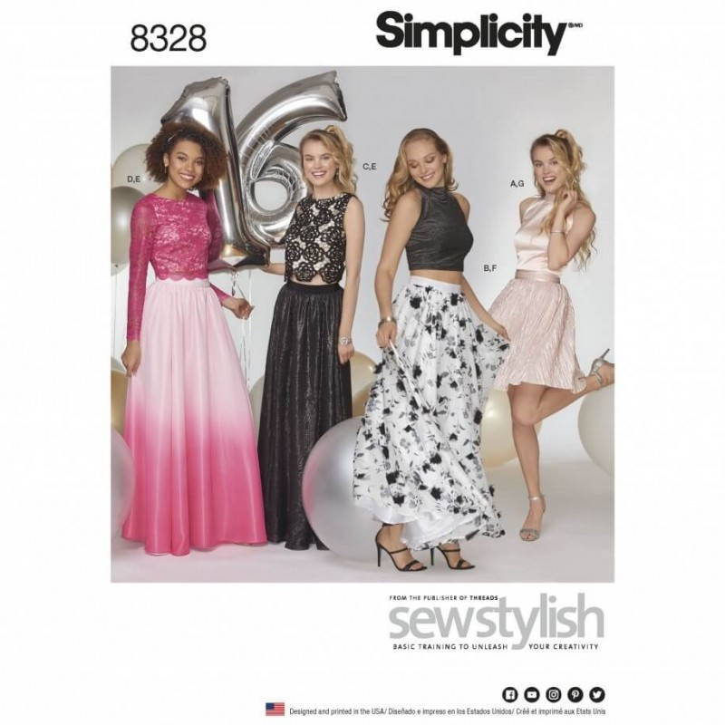 Misses Mix and Match Special Occasions Dress Simplicity Sewing Pattern 8328