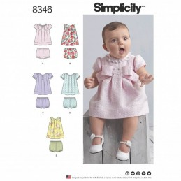 Simplicity Babies Dress and Shorts Kids Summer Sewing Pattern 8346