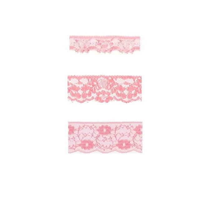 Nylon Lace Salmon Pink 2m x 11mm, 35mm, 55mm