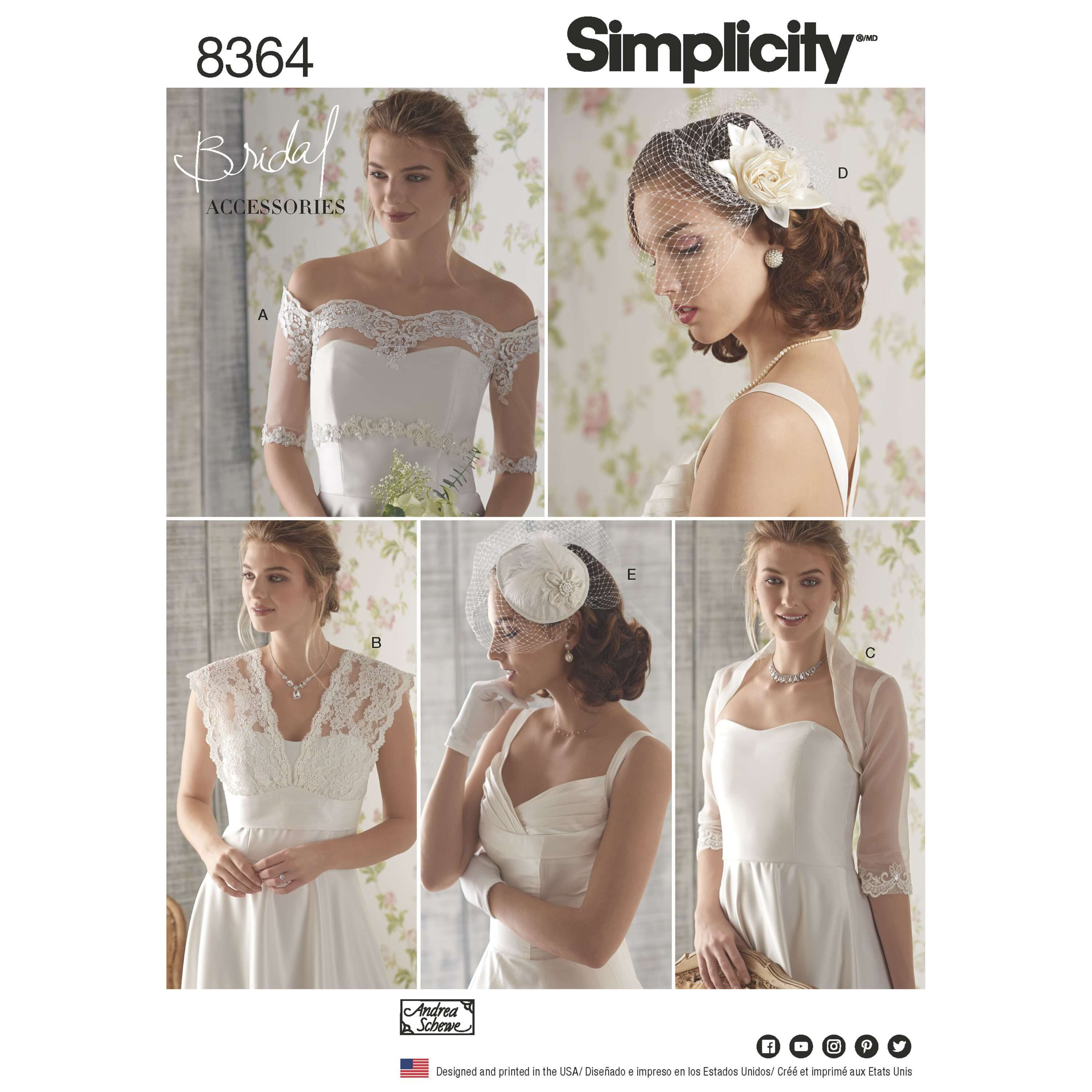 Misses' Cover-Ups Fascinator and Hat Accessories Simplicity Sewing Pattern 8364