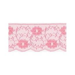 Nylon Lace Salmon Pink 2m x 11mm, 35mm, 55mm