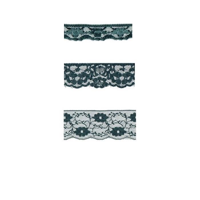 Nylon Lace Petrol Blue 2m x 11mm, 35mm, 55mm