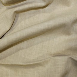 Tan 100% Cotton Linen Look Fabric Washed