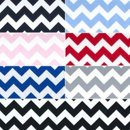 8mm Wavey Zig Zag Chevrons Stripes 100% Cotton Poplin Fabric Patchwork