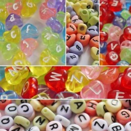 100 Pack of Beads Alphabetical Craft Beads Various Assorted