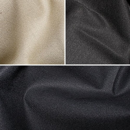 Black Brushed Twill Fabric Stretch Cotton Spandex Mix