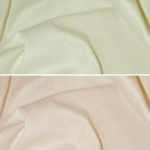 Ivory Curtain Lining Fabric Solpruffe 63 Sateen 100% Cotton