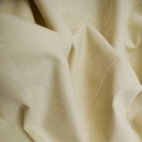 Plain Undyed Woven Loomstate Cotton Drill 100% Cotton Fabric (160cm Wide)