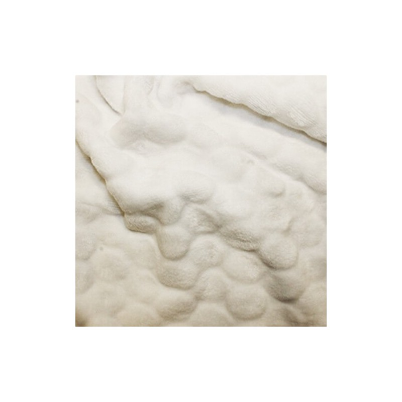 Double Sided Cuddle soft Fleece Fabric Material BUBBLE IVORY
