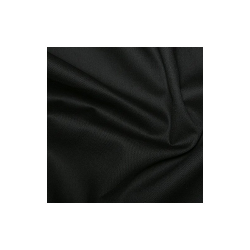 Plain Black Or White Gaberdine Woven Fabric 65% Polyester 35% Cotton