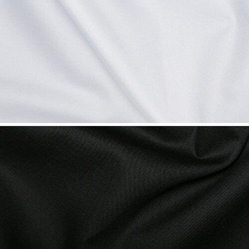 Plain Black Or White Gaberdine Woven Fabric 65% Polyester 35% Cotton