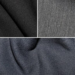 Stretch Poly-Viscose Plain Coloured Suiting Fabric