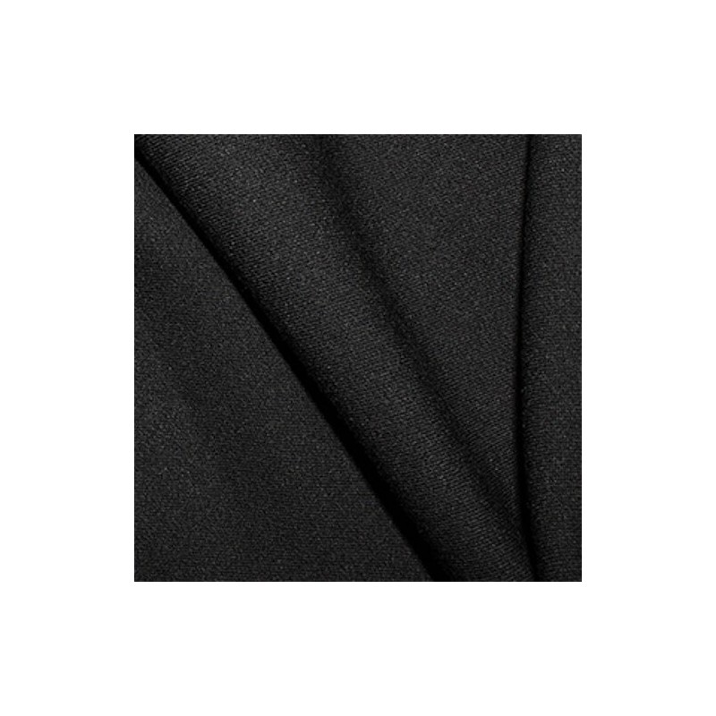 Black Stretch Poly Viscose Fabric Suiting Spandex