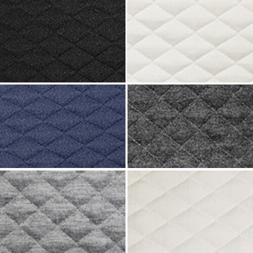 Marl Stretch Quilting Fabric Diamond Quilted Poly Spandex