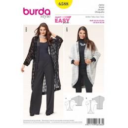Burda Style Misses Batwing Kimono Sleeve Drape Cardigan Sewing Pattern 6588