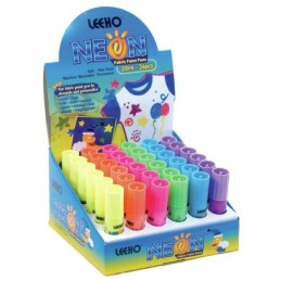 Leeho Bright Neon Machine Washable Non Toxic Fabric Paint Pens