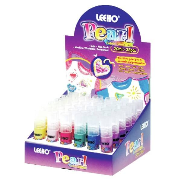 Leeho Pearl Effect Machine Washable Non Toxic Fabric Paint Pens
