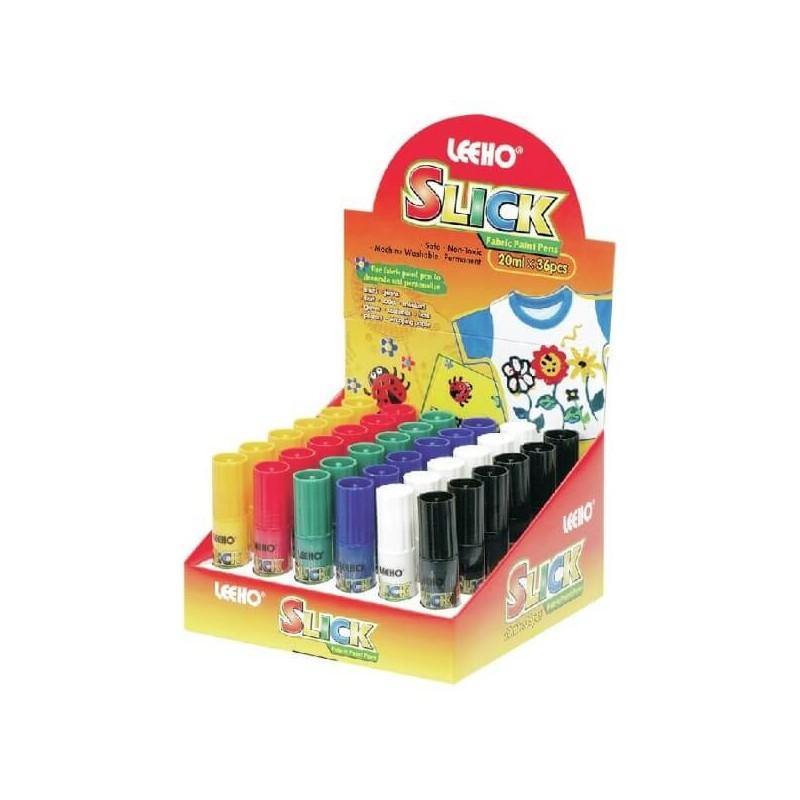 Leeho Slick Style Machine Washable Non Toxic Fabric Paint Pens