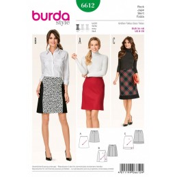 Burda Style Flared Skirt Check Plaid Dress Sewing Pattern 6612