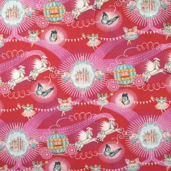 You Will Go To The Ball Fairy Godmother 96% Cotton 4% Elastane Fabric (P)