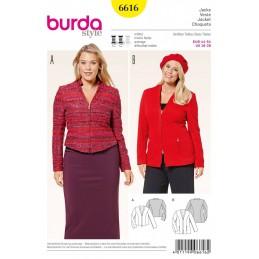 Burda Style Casual Jacket Zipped Dress Sewing Pattern 6616