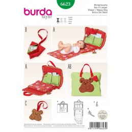 Burda Style Babies Nappy Diaper Bag Dress Sewing Pattern 6623