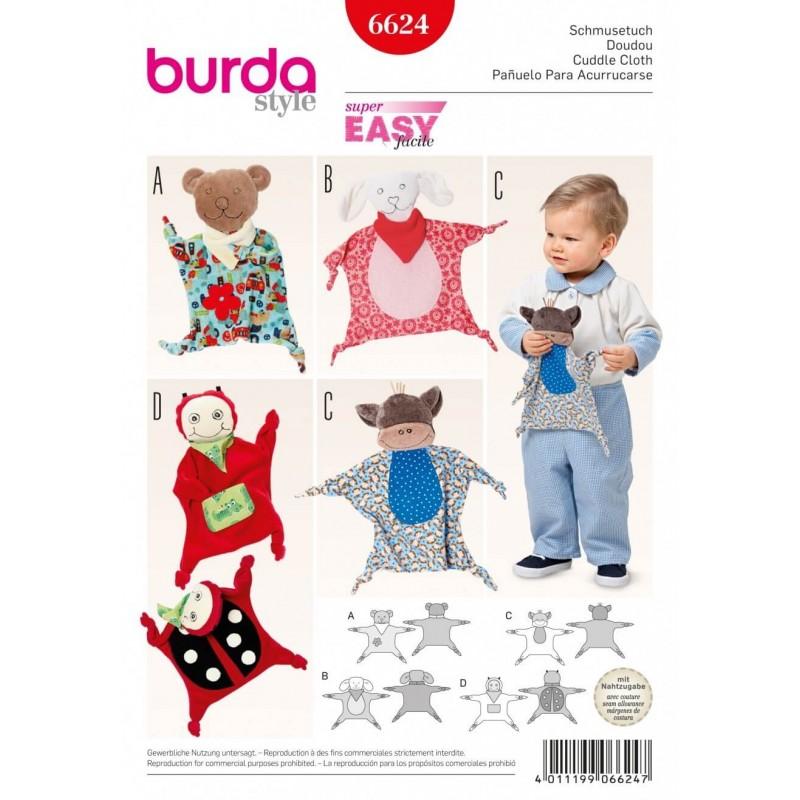 Burda Style Childrens Cuddle Cloth Toy Dress Sewing Pattern 6624