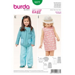 Burda Kids Coordinates Yoke Blouse Trousers Dress Sewing Pattern 9377