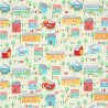 Holiday Cabins Summer Houses Prairie Homes 100% Cotton Patchwork Fabric