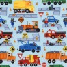 Construction and Emergency Vehicles Men at Work 100% Cotton Patchwork Fabric