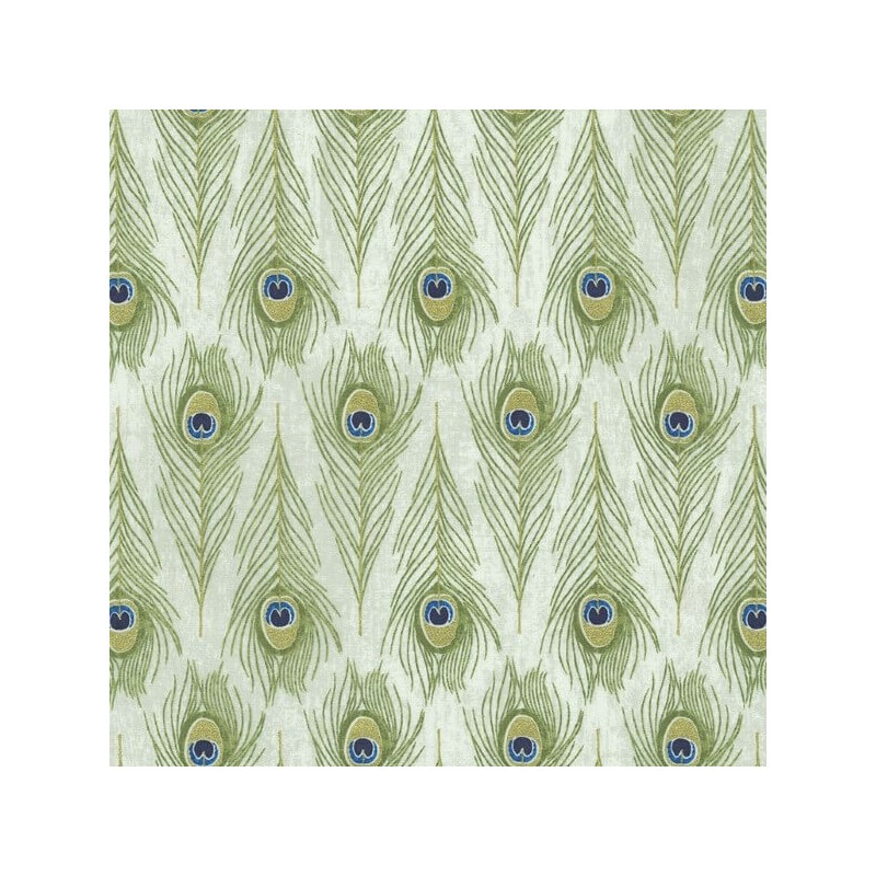 Proud Peacock Funky Fluttering Feathers 100% Cotton Patchwork Fabric