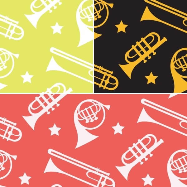 The Sound Of Music Big Brass Band Instrument 100% Cotton Fabric (Fabric Freedom)