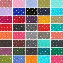 Tiny 2mm Spots Polka Dots in Lines Quality 100% Cotton Poplin (Fabric Freedom)