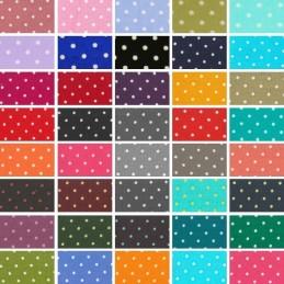 100% Cotton Poplin Fabric (Fabric Freedom) Tiny 2mm Spots Polka Dots