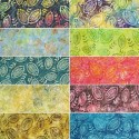 Forest Nature Leaves Batik 100% Cotton Fabric (Fabric Freedom)