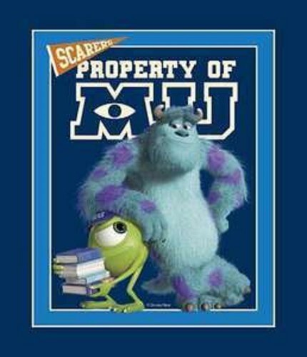 Mike And Sully Monster Inc University Panel Cotton Fabric