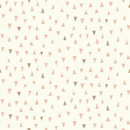 Doodle Days Pastel Sketched Geometric Triangles 100% Cotton Fabric (Makower) SEPTEMBER