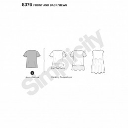 Misses' Knit Top T-Shirt Design Hack Collection Simplicity Sewing Pattern 8376