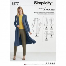 Simplicity Misses' Knit Cardigan Design Hack Collection Sewing Pattern 8377